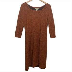 The Territory Ahead Orange Sweater Wool Dress